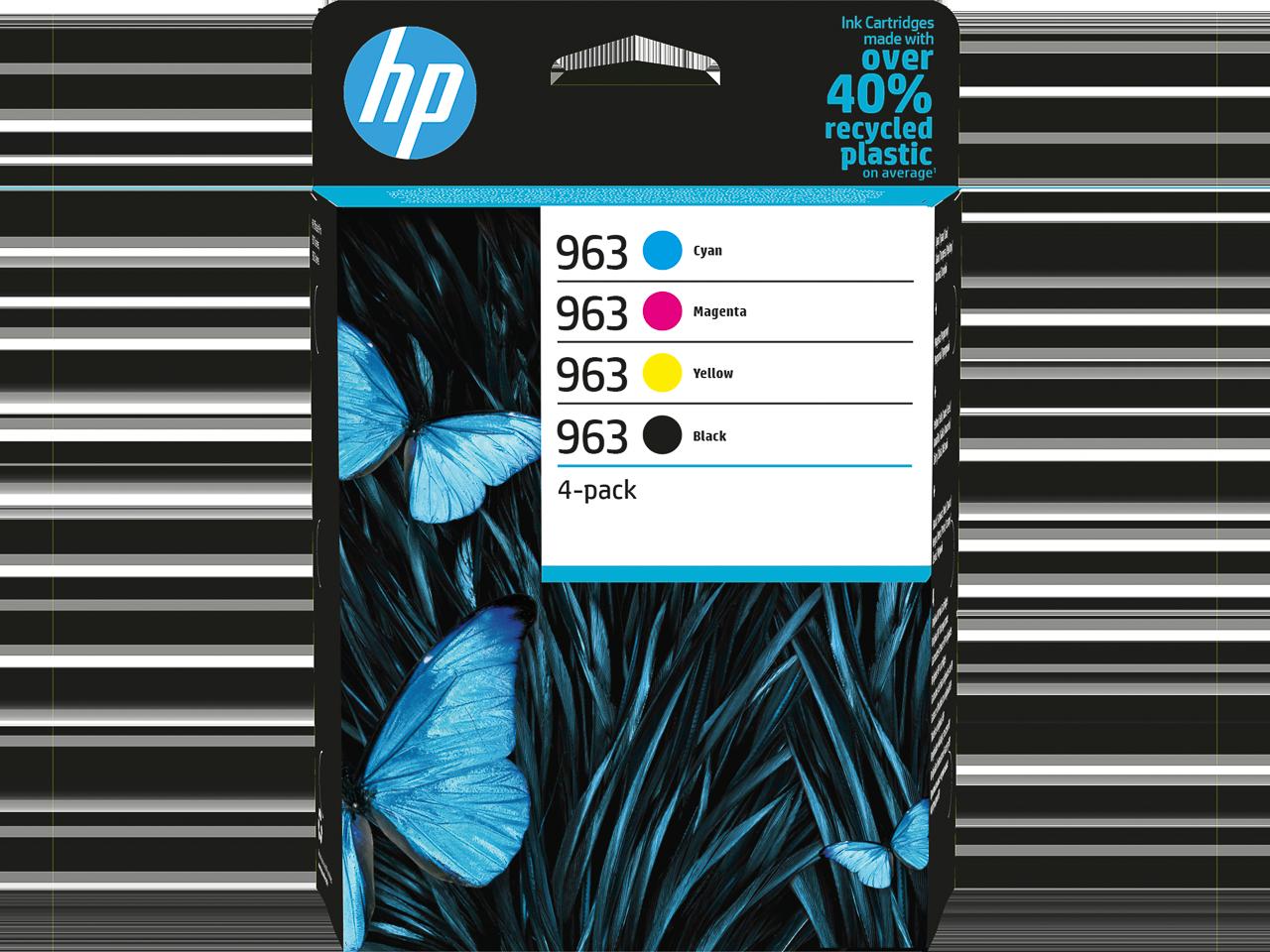 6ZC70AE HP OJ PRO9000 INK (4) CMYK HP963 3x700+1x1000pages 1