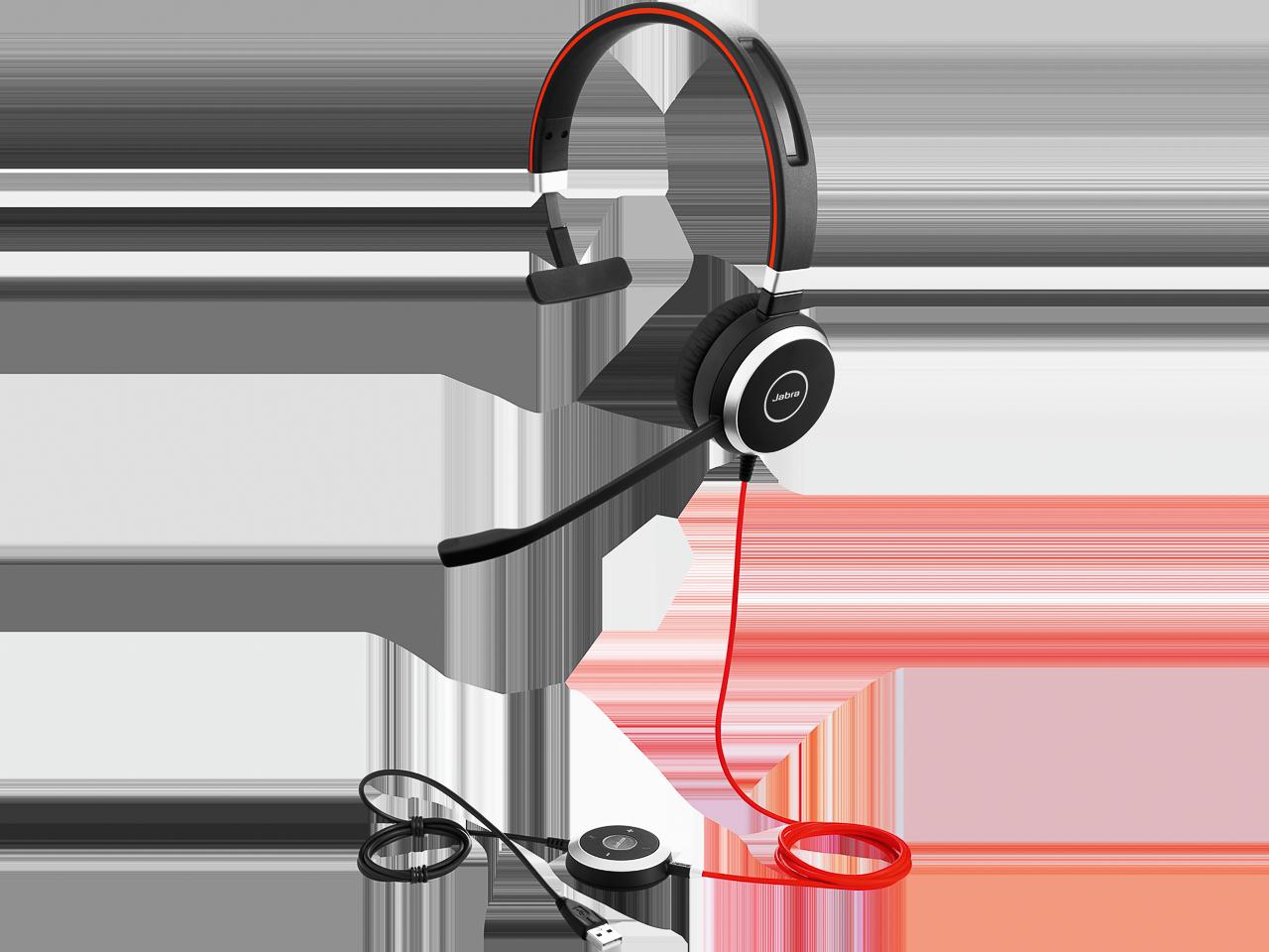 JABRA EVOLVE 40 MS MONO HEADSET 6393-823-109 USB-A/jack plug/NC/cable 1