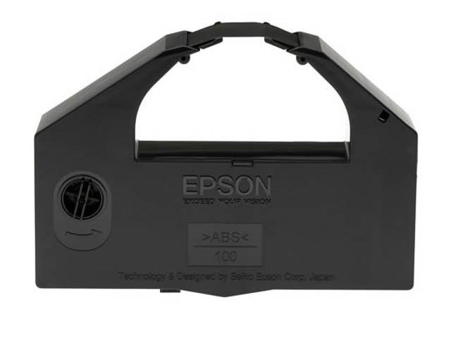 C13S015066 EPSON DLQ3000 RIBBON NYLON BK 6mil signs black 1