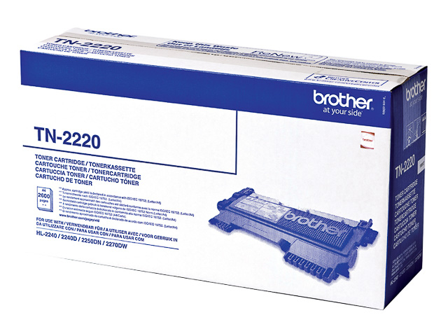 TN2220 BROTHER HL2240 TONER BLACK HC 2600Seiten hohe Kapazitaet 1