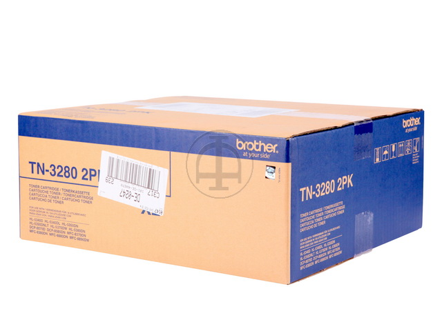 TN3280TWIN BROTHER DCP8085 TONER BLK (2) 2x8000Seiten hohe Kapazitaet 1