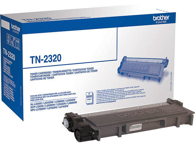 TN2320 BROTHER DCPL2500DN TONER BLACK HC 2600pages high capacity 1