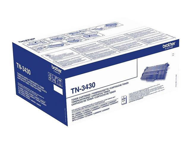 TN3430 BROTHER DCPL5500DN TONER BLACK ST 3000Seiten Standard Kapazitaet 1
