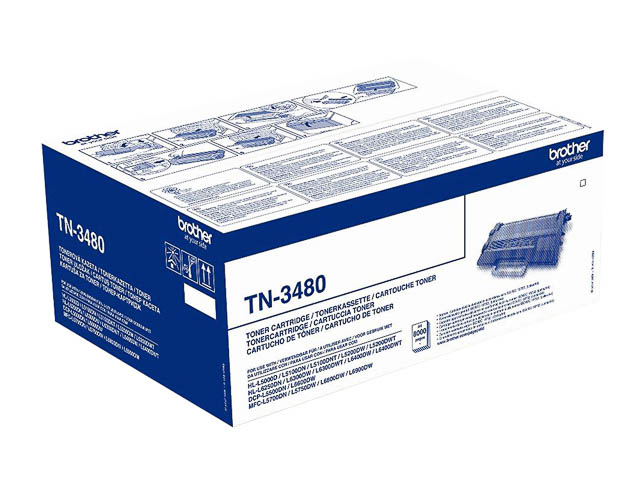 TN3480 BROTHER DCPL5500DN TONER BLACK HC 8000pages high capacity 1