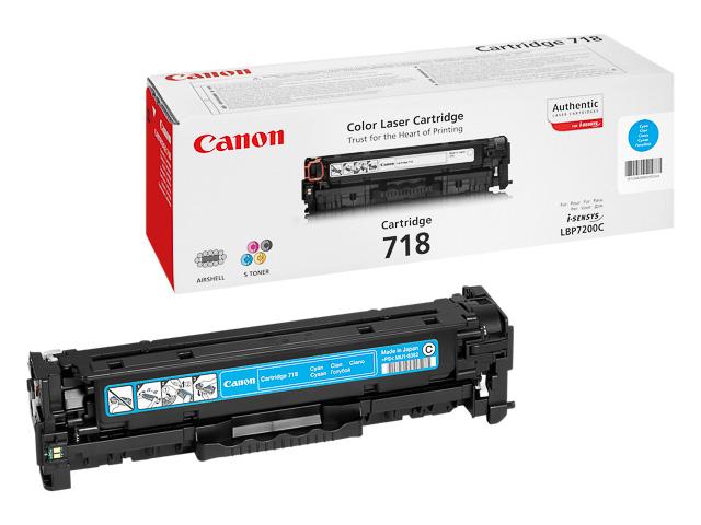 2661B002 CANON LBP7200 CARTRIDGE CYAN 718C 2900Seiten 1