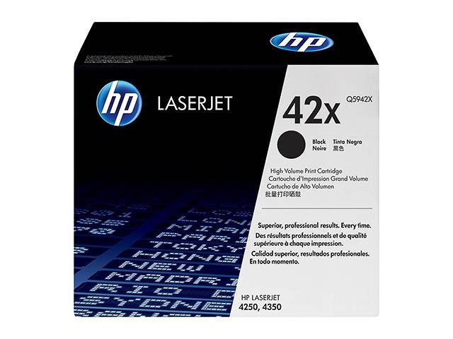 Q5942X HP LJ4250 CARTRIDGE BLACK HC HP42X 20.000pages high capacity 1