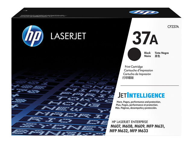 CF237A HP LJ M607 CARTRIDGE BLACK HP37A 11.000pages standard capacity 1