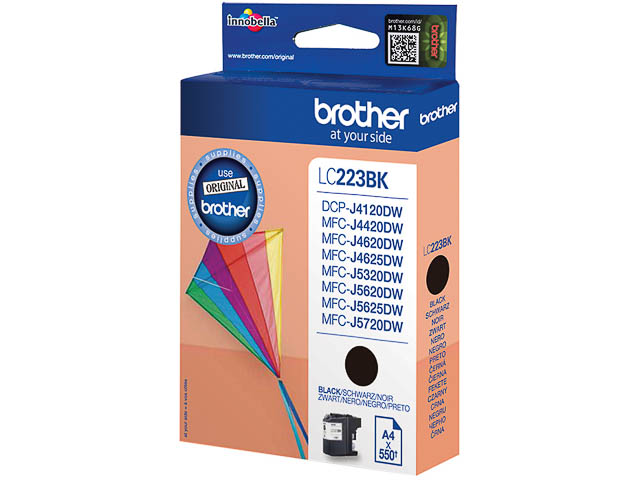 LC223BK BROTHER MFCJ4420DW INK BLK ST 550pages standard capacity 1