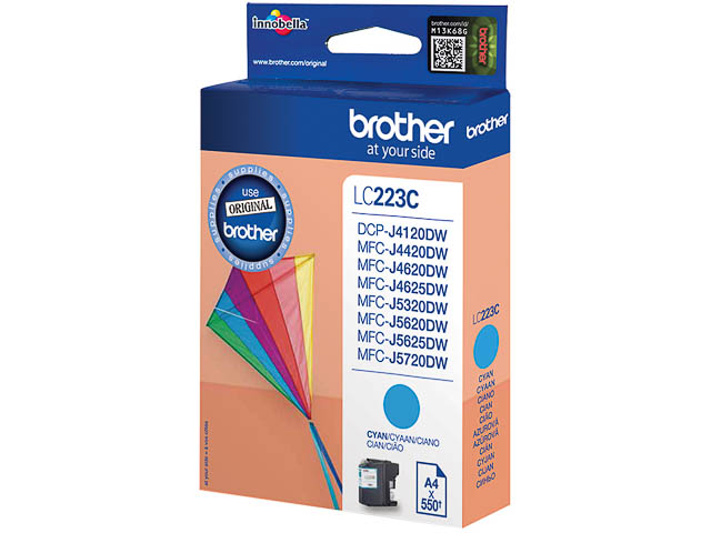 LC223C BROTHER MFCJ4420DW INK CYA ST 550pages standard capacity 1