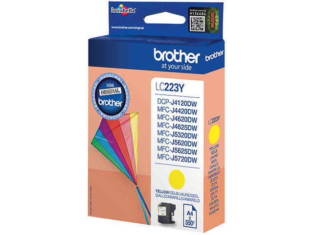 LC223Y BROTHER MFCJ4420DW INK YEL ST 550pages standard capacity 1