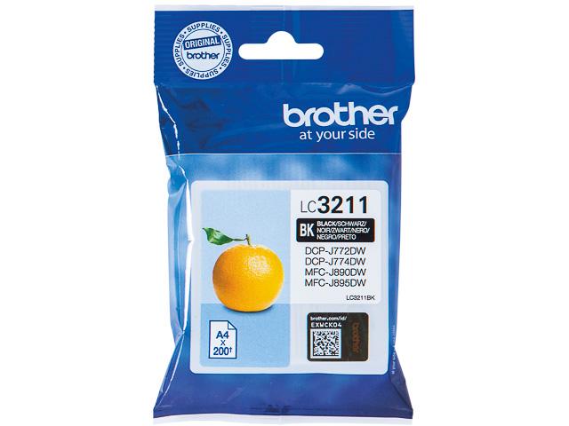 LC3211BK BROTHER DCPJ772DW TINTE BLK ST 200Seiten Standard Kapazitaet 1