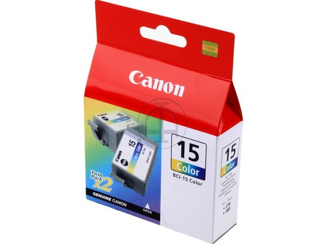 BCI15C CANON I70 INK (2) COLOR 8191A002 No.15 2x50pages 1