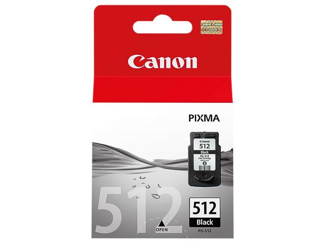 PG512 CANON MP240 TINTE BLACK HC 2969B001 Nr.512 15ml 400Seiten hohe Kap. 1