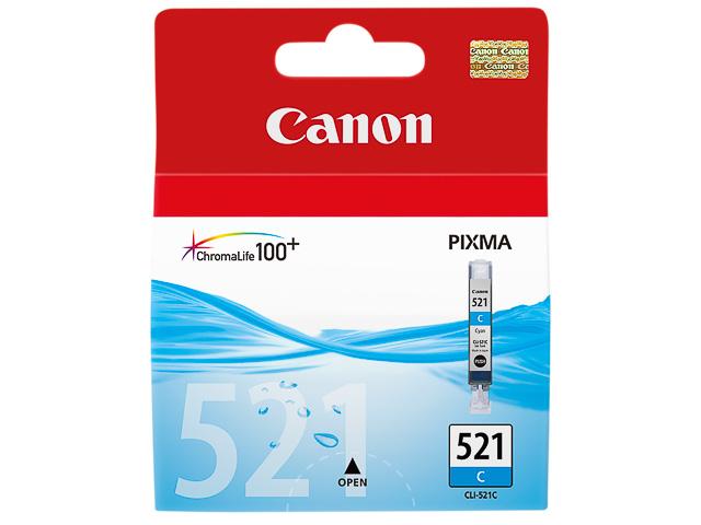 CLI521C CANON MP540 TINTE CYAN 2934B001 Nr.521 9ml 505Seiten 205Fotos 1
