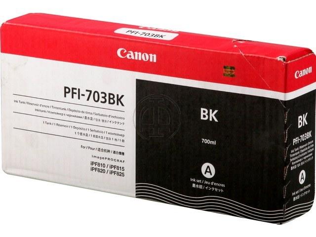 PFI703BK CANON IPF810 INK BLACK 2963B001 700ml dye 1
