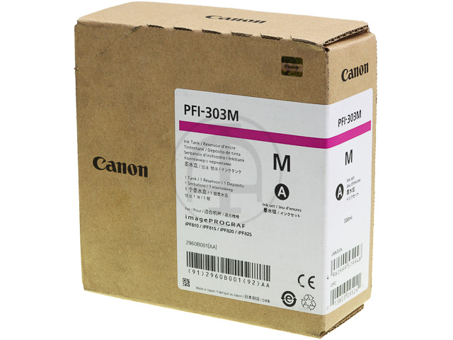 PFI303M CANON IPF810 INK MAGENTA 2960B001 330ml 1