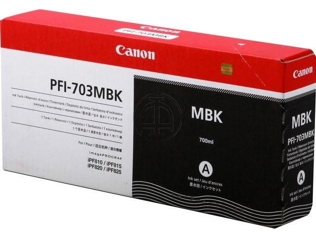 PFI703MBK CANON IPF810 INK MATTE BLACK 2962B001 700ml 1