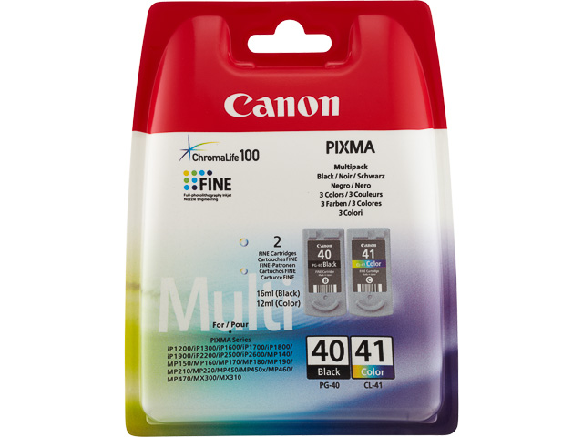 PG40+CL41 CANON MP450 INK (2) BLK+COL 0615B043 blister w/o sec 1
