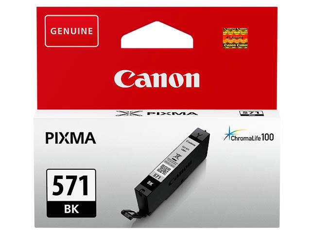 CLI571BK CANON MG5750 INK BLACK ST 0385C001 No.571 7ml standard capacity 1
