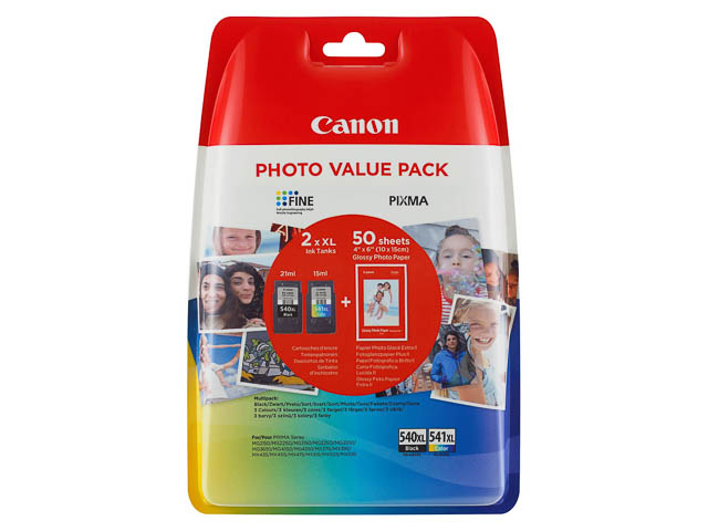 PG540XL+CL541XL CANON MG2150 INK (2) HC 5222B013 10x15cm photos blister w/o sec 1