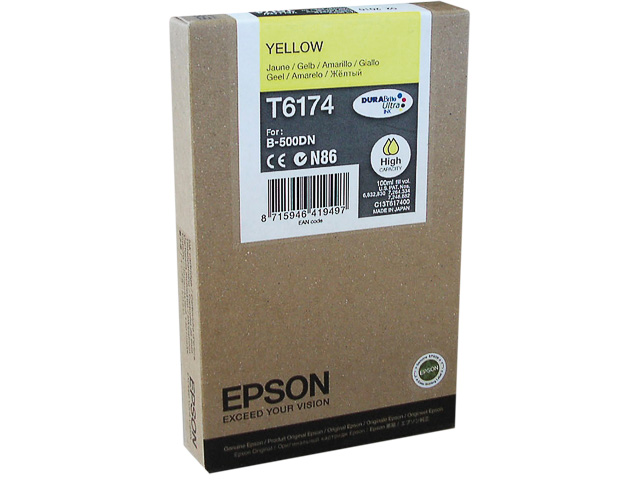C13T617400 EPSON B500DN INK YELLOW HC 100ml 7000pages high capacity 1