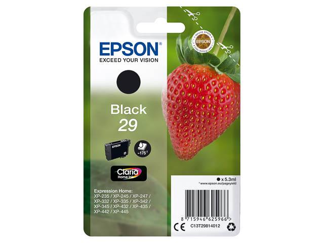 C13T29814012 EPSON XP235 TINTE BLACK ST 5,3ml 175Seiten Standard Kapazitaet 1