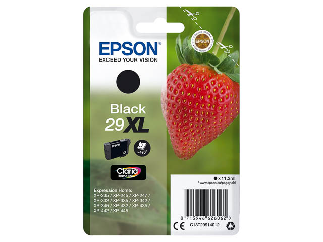 C13T29914012 EPSON XP235 INK BLACK HC 11,3ml 470pages high capacity 1