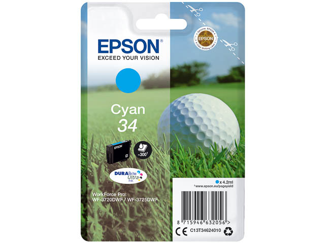 C13T34624010 EPSON WF3720DWF INK CY ST 4,2ml 300pages cyan standard cap. 1
