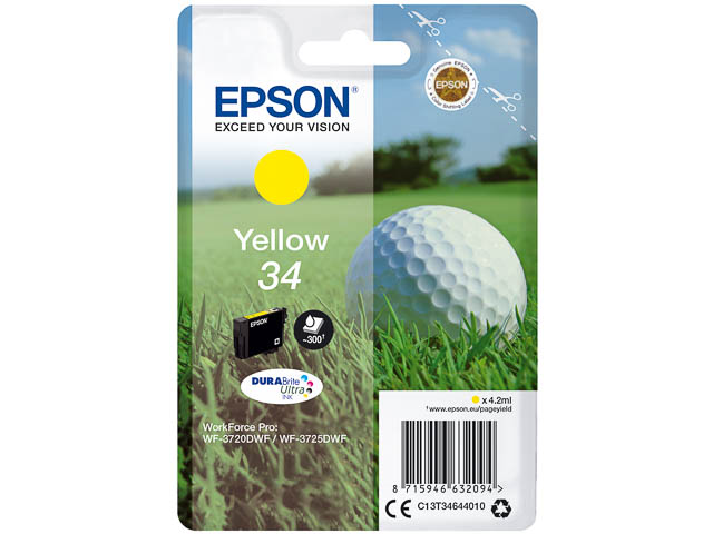 C13T34644010 EPSON WF3720DWF INK YE ST 4,2ml 300pages yellow standard cap. 1