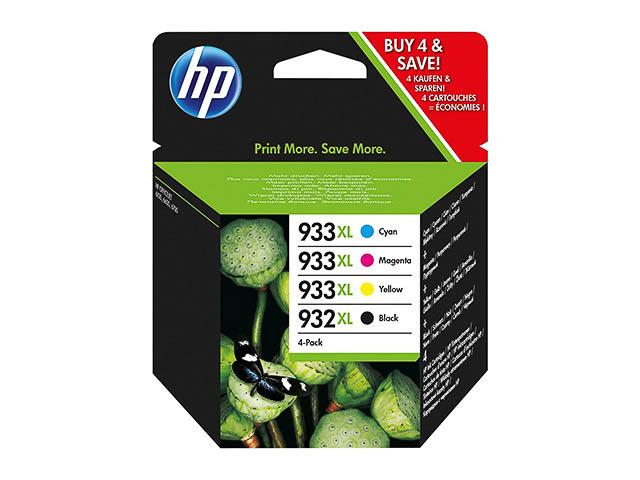 C2P42AE HP OJ6600 INK (4) CMYK HC HP932XL black + HP933XL cmy high cap 1