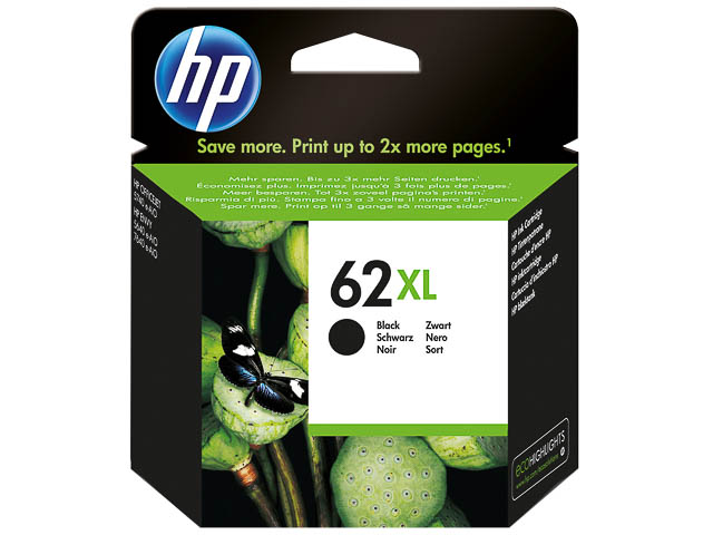 C2P05AE HP OJ5740 INK BLACK HC HP62XL 12ml 600pages high capacity 1
