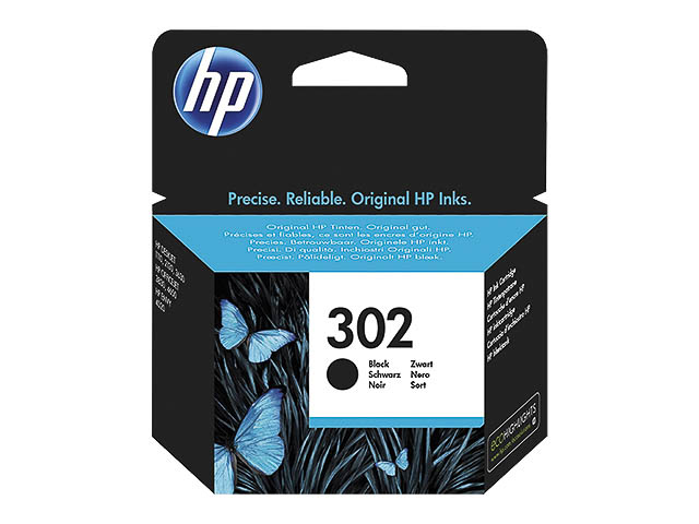 F6U66AE HP OJ3830 TINTE BLACK ST HP302 165Seiten Standard Kapazitaet 1