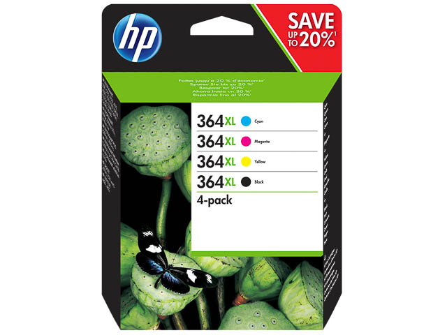 N9J74AE HP PSCD5460 INK (4) CMYK HC HP364XL high capacity 1