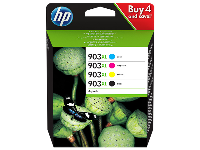 3HZ51AE HP OJ PRO6950 INK (4) CMYK HC HP903XL 4x825pages high capacity 1