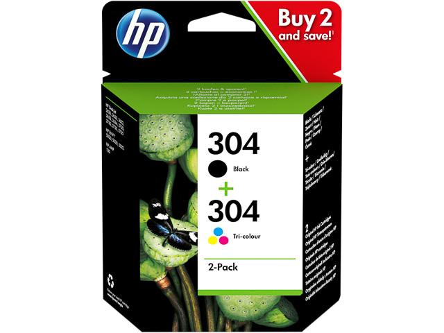 3JB05AE#UUS HP DJ3720 TINTE (2) BLK+COL HP304 Standard Kapazitaet 1