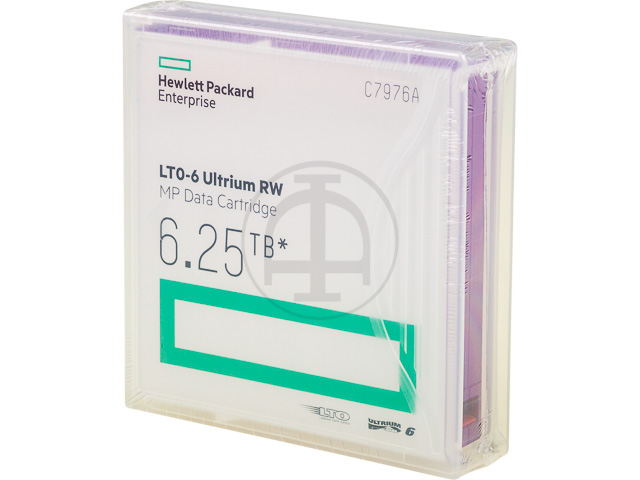 C7976A HP DC ULTRIUM6 LTO6 without label 2.5-6.25TB 846m 1