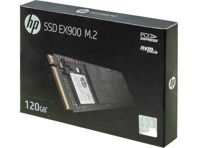 HP SSD EX900 FESTPLATTE INTERN 120GB 2YY42AA#ABB M.2 L:1900MB/s S: 650MB/s 1