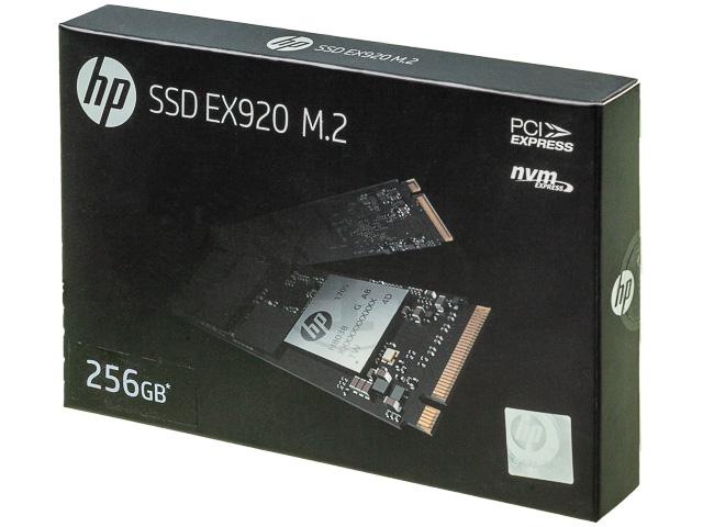 HP SSD EX920 FESTPLATTE INTERN 256GB 2YY45AA#ABB M.2 L:3200MB/s S:1200MB/s 1