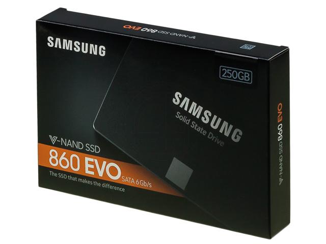 SAMSUNG 2.5 SSD DRIVE INTERNAL 250GB MZ-76E250B/EU 860 EVO Basic 1