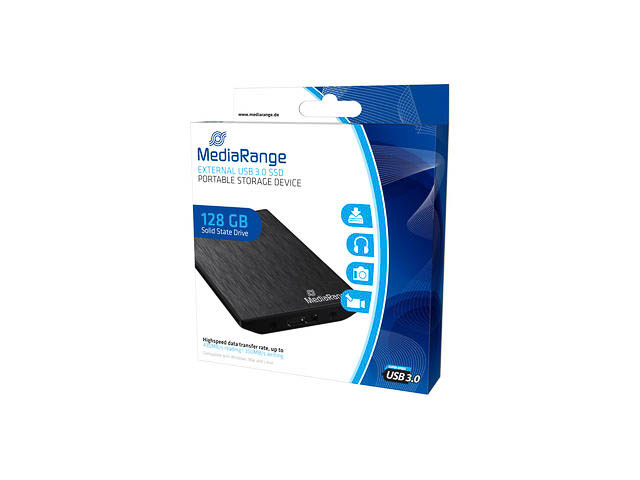 MEDIARANGE SSD 120GB MR990 USB 3.0 extern schwarz 1