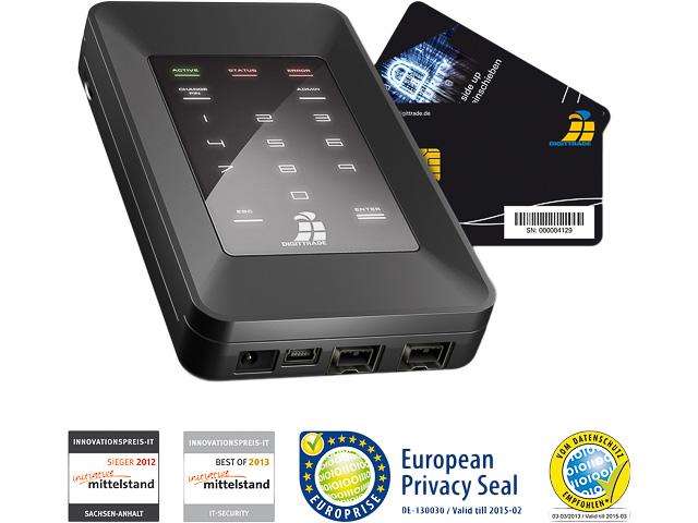 DIGITTRADE HDD FESTPLATTE EXTERN 500GB DG-HS256S-500 USB 2.0 hohe Sicherheit 1