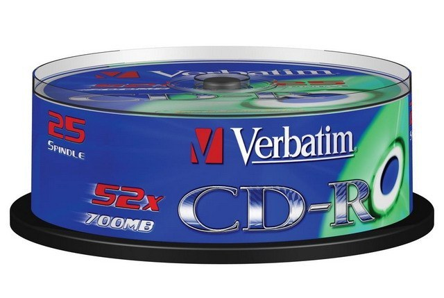 VERBATIM CDR80 700MB 52x (25) SP 43432 spindle extra protection 1