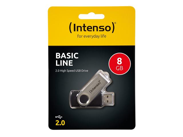 INTENSO BASIC LINE USB DRIVE 8GB 3503460 28MB/s USB 2.0 black 1