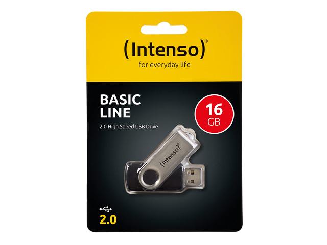 INTENSO BASIC LINE HARD DRIVE 16GB 3503470 28MB/s USB 2.0 black 1