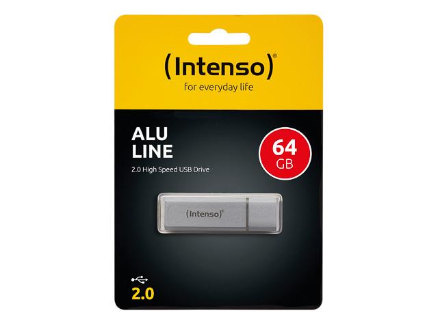 INTENSO ALU LINE USB STICK 64GB 3521492 28MB/s USB 2.0 silber 1