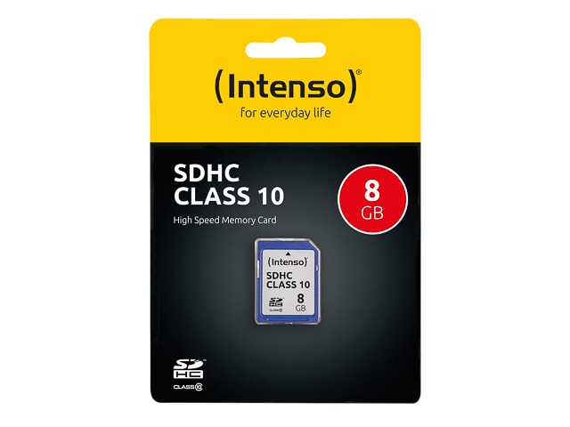 INTENSO SD SPEICHERKARTE 8GB 3411460 Klasse 10 1