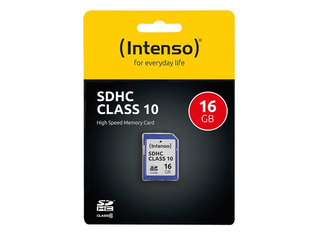 INTENSO SD SPEICHERKARTE 16GB 3411470 Klasse 10 1