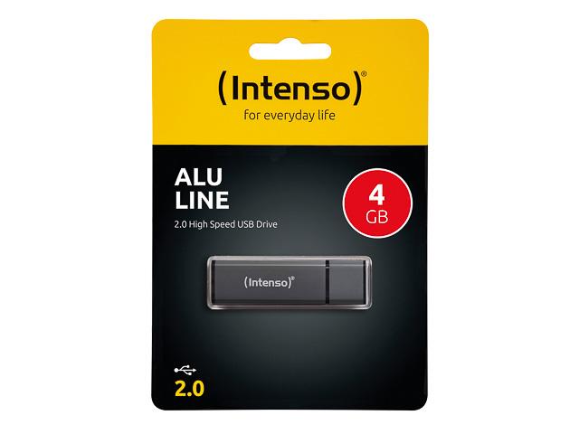 INTENSO ALU LINE USB DRIVE 4GB 3521451 28MB/s USB 2.0 anthracite 1