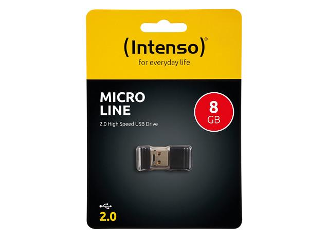 INTENSO MIRCO LINE USB DRIVE 8GB 3500460 16,5MB/s USB 2 0