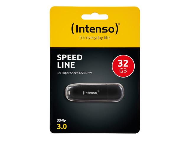 INTENSO SPEED LINE USB DRIVE 32GB 3533480 70MB/s USB 3.0 black 1
